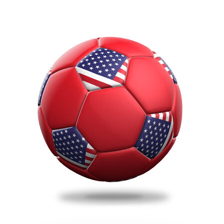 isolated: United States soccer ball isolated white background