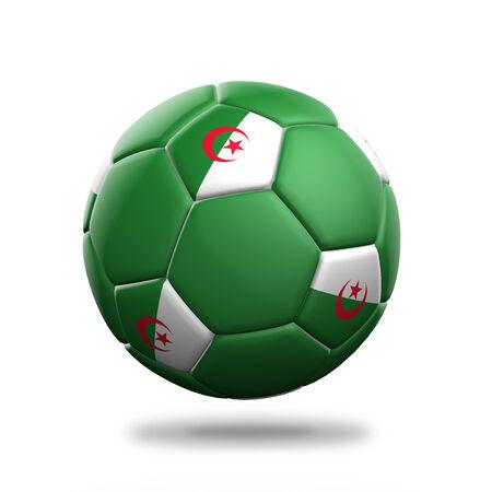 algeria: Algeria soccer ball isolated white background