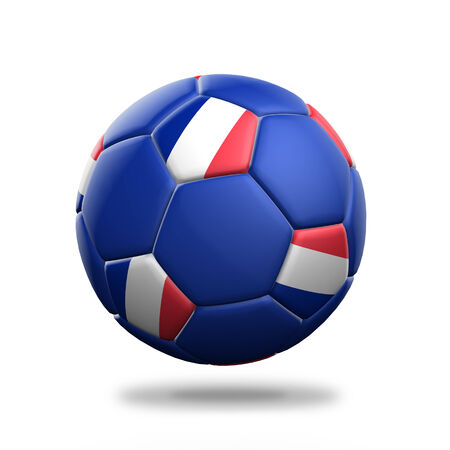 France soccer ball isolated white background photo