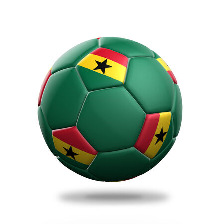Ghana soccer ball isolated white background photo