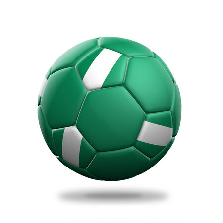nigeria: Nigeria soccer ball isolated white background