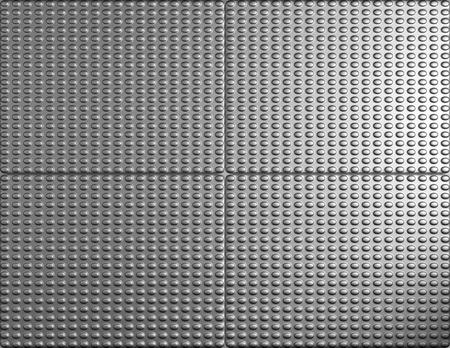 standard steel: Silver metal bump tile background 3d illustration Stock Photo