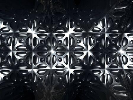 Silver metal abstract tile pattern background 3d Illustration illustration