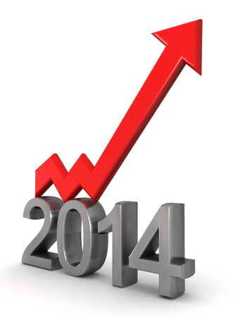 financial year: Year 2014 financial success concept  Stock Photo