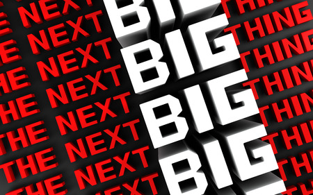 teaser: The next big thing coming soon announcement background 3d illustration