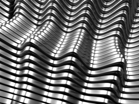 standard steel: Silver metal abstract background 3d illustration