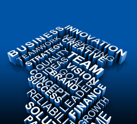 Business advice and direction concept 3d illustration Stock Photo