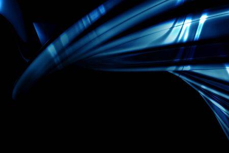 フレア 3 d イラストと抽象的な豪華な青い背景 写真素材