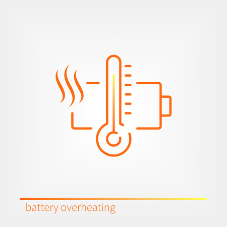lithium: Battery overheating icon