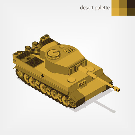 Military armored German tank. Illustration