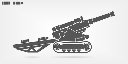 Artillery flat vector icon.