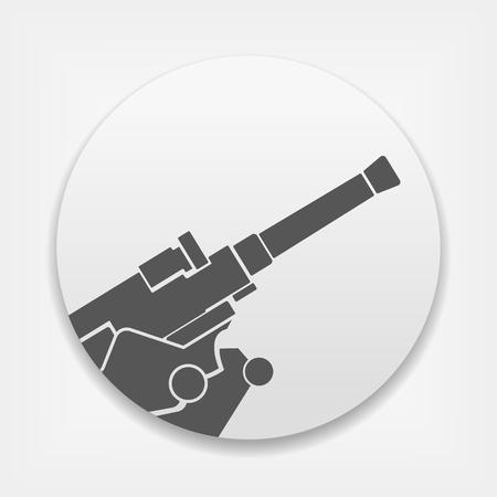 Artillery flat vector icon.