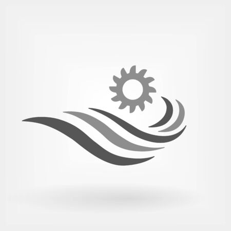 Hydroelectric Power Generator icon. Hydroelectricity generation concept vector illustration Illustration
