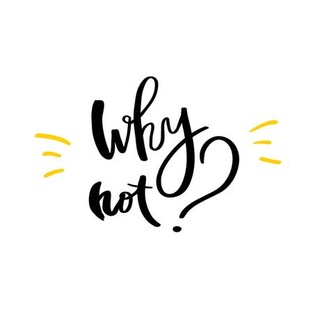 Waarom niet met de hand geschreven zwarte die tekst op witte achtergrond wordt geïsoleerd