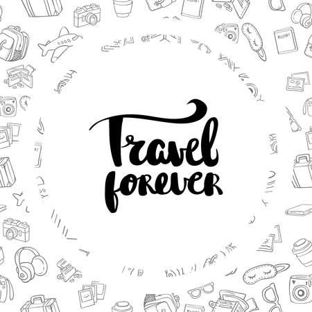 undulate: Posters travel forever hand drawn lettering inspirational typography