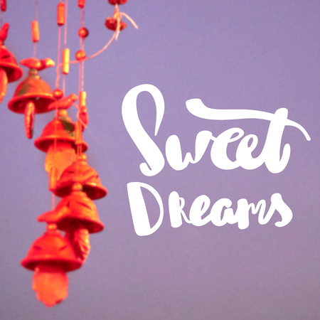 typo: Motivational Quote on blur  background Sweet Dreams Stock Photo