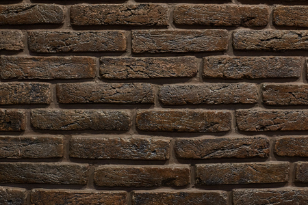 Background of old vintage brick wall. texture brown brick.