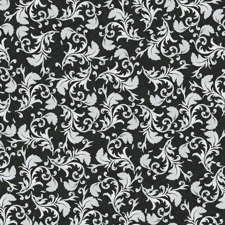 Leaf pattern on dark background vector EPS 10 Illustration