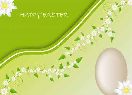 Easter card with spring motive Stock Vector - 17309825