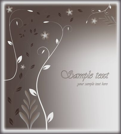 Stylized card with floral background vector EPS 10 Stock Vector - 17600197