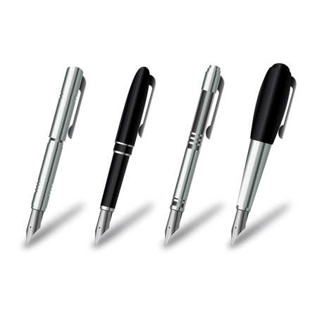 Pen set on a white background  Vector