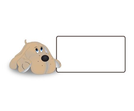 The dog tag on a white background  Stock Vector - 17977603