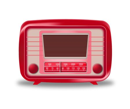 Old red radio on white background vector eps 10 Stock Vector - 18069060