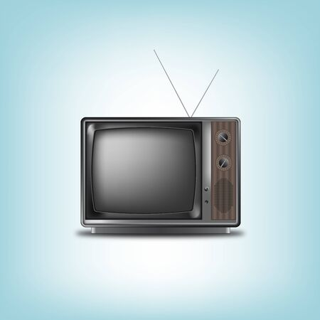 Old retro television on a blue background vector eps 10 Stock Vector - 18226039