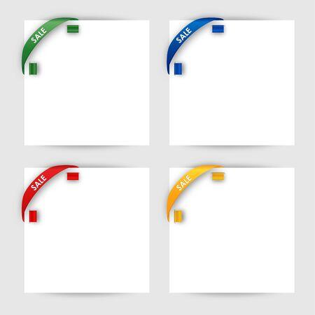 Sale corner ribbon on a white paper vector eps 10 Stock Vector - 18226040