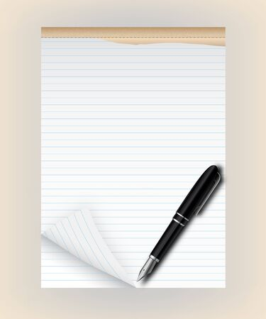 Tear pad with pen  Stock Vector - 18284649