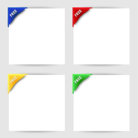 Free clip corner on white paper Stock Vector - 18353503