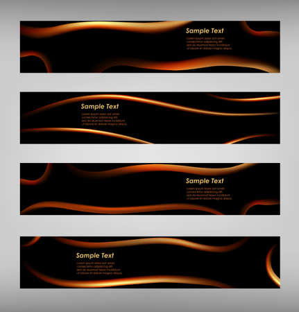 Set of abstract black web banner vector eps 10 Stock Vector - 18454717