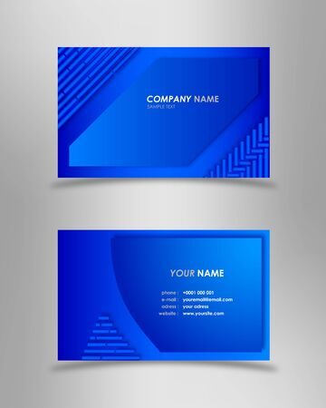 Abstract modern blue business card Stock Vector - 18679367