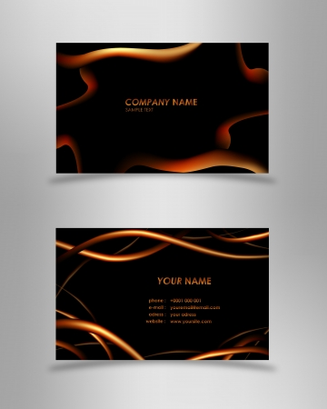 atypical: Abstract black business card Illustration