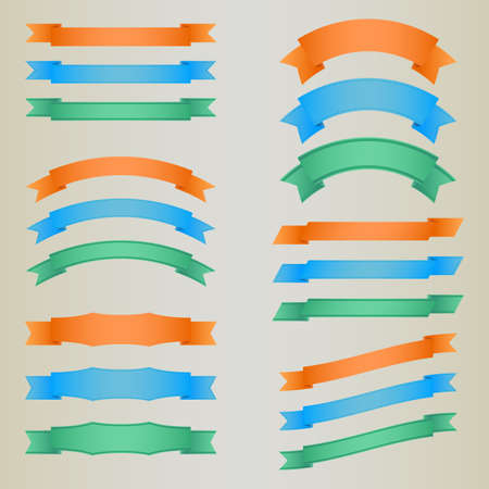 Collection of colorful vector retro ribbons eps 10 Stock Vector - 18957942