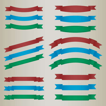 Collection of colorful retro ribbons vector eps 10 Stock Vector - 18957943