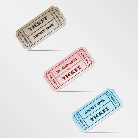 Colorful vintage ticket