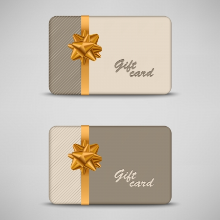 Gift card with stripes and bow Vector