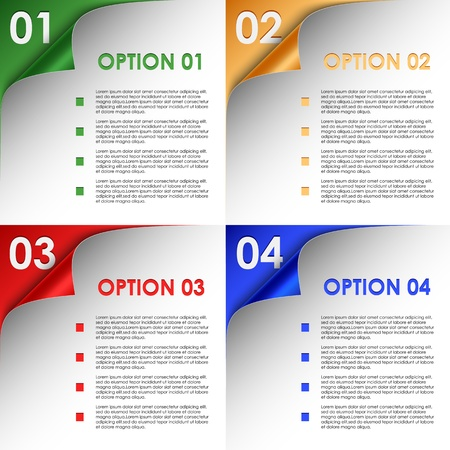 Options tordues color� coins fond