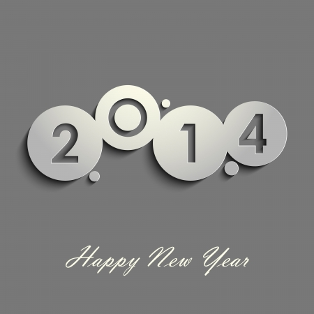 Abstract gray New Years wishes vector eps 10 Illustration