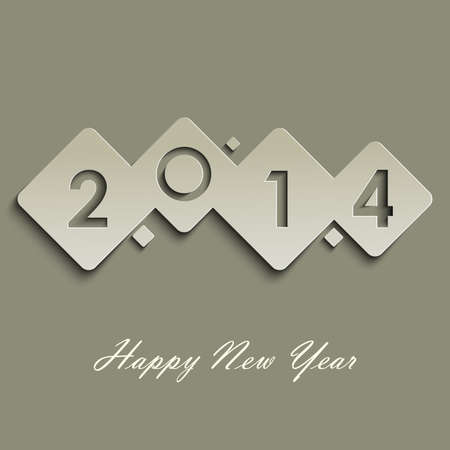 Abstract cube New Years wishes vector eps 10