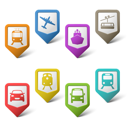 Colorful set pointers for transport