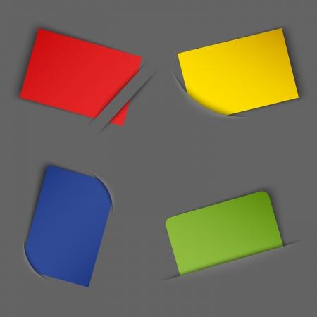 Set of colorful blank labels in your pocket  Illustration