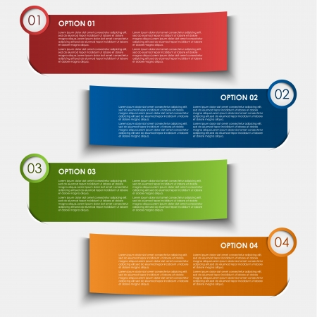 Information options tags design element
