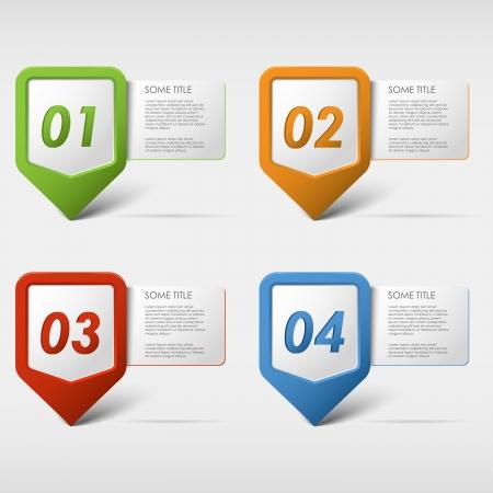 annotation: Colorful set progress icons