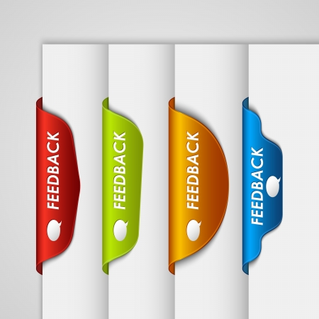 feedback label: Color label bookmark feedback on the edge of web page