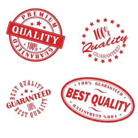 Retro vintage red stamps vector