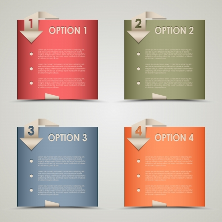 Modern origami colored options background vector eps 10