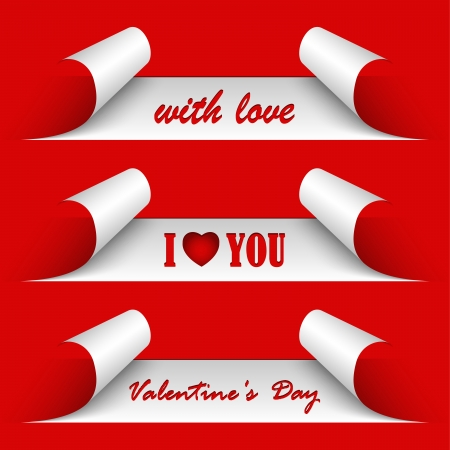 Valentines day red stickers  Illustration