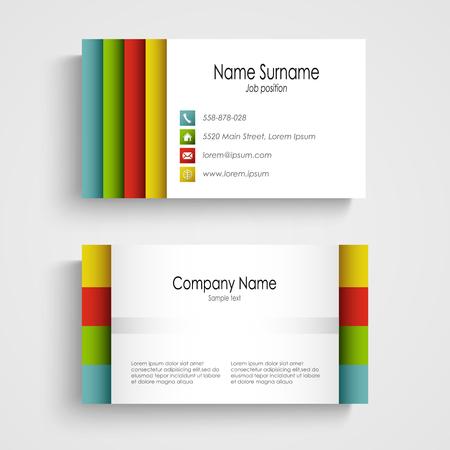 Modern light business card template vector eps 10